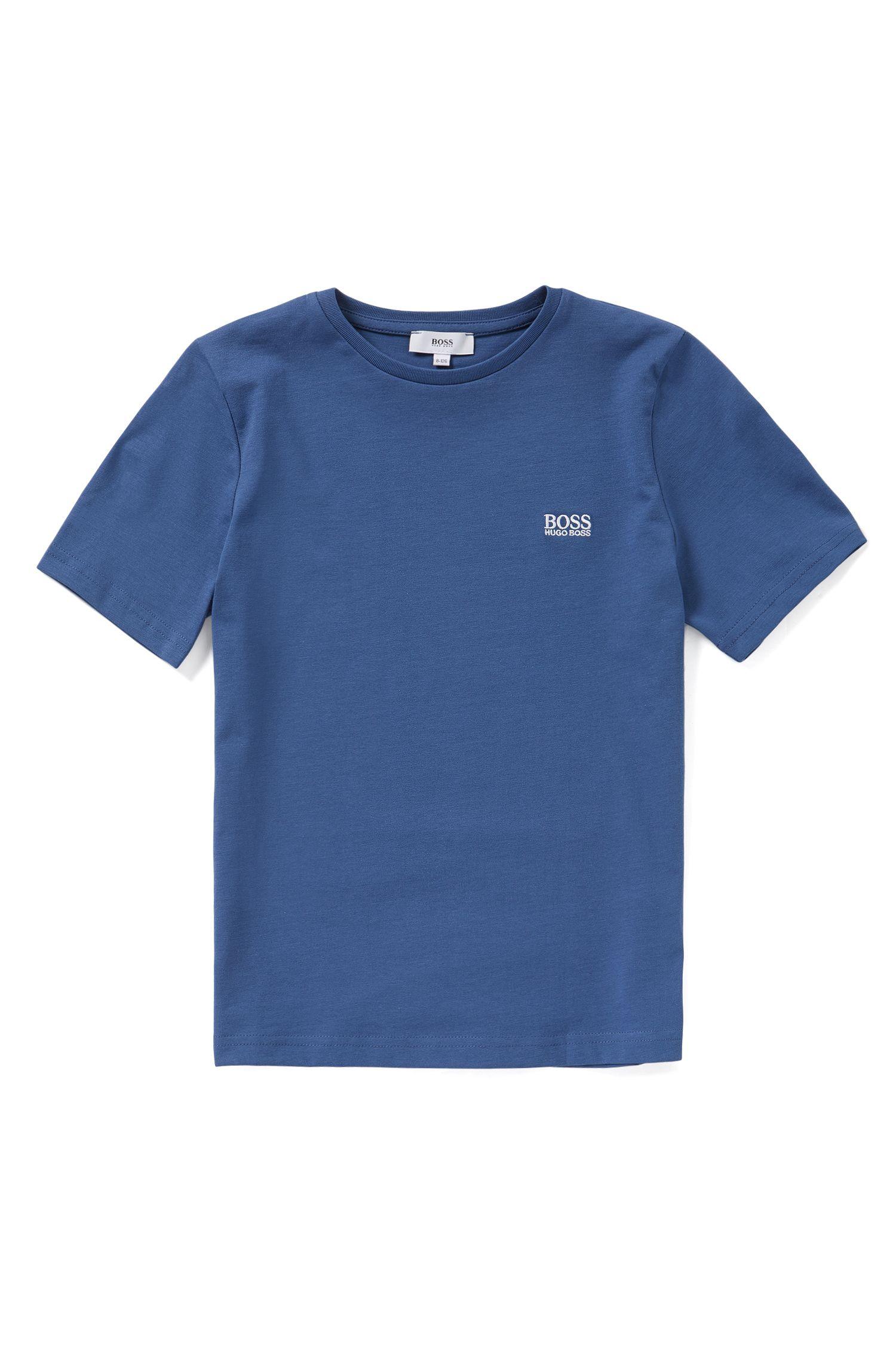 Kids' cotton t-shirt with a round neckline: 'J25A40'