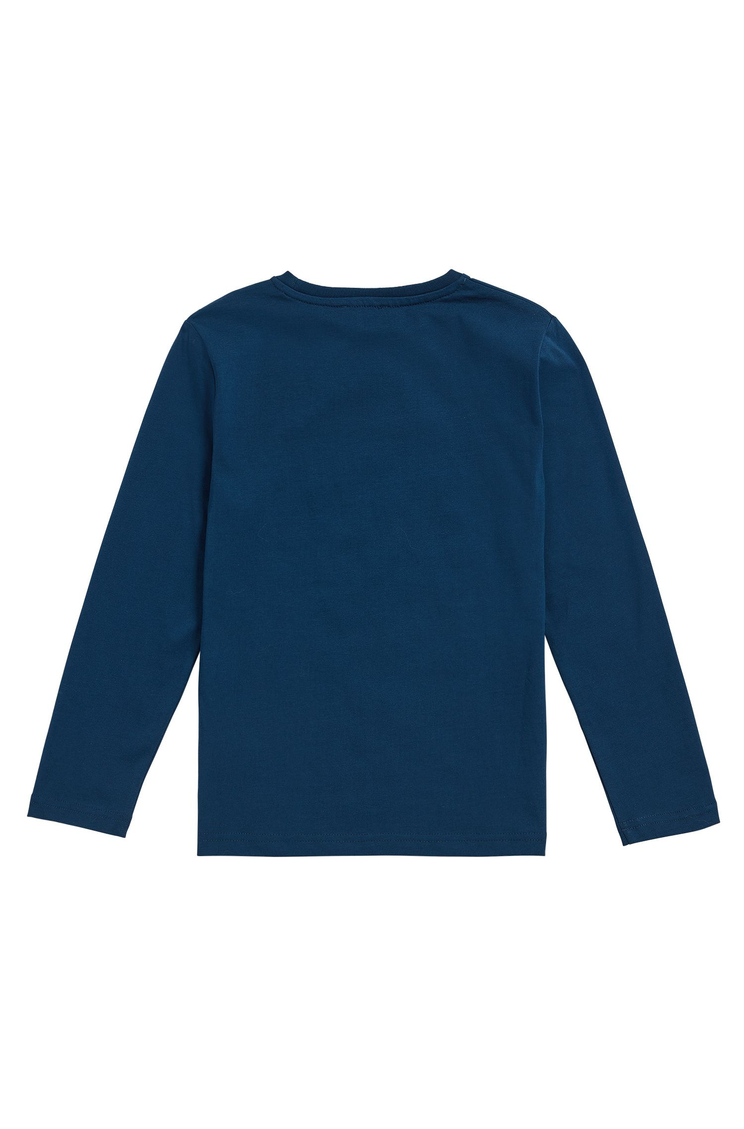 Regular-Fit Kids-Longsleeve aus Single-Jersey