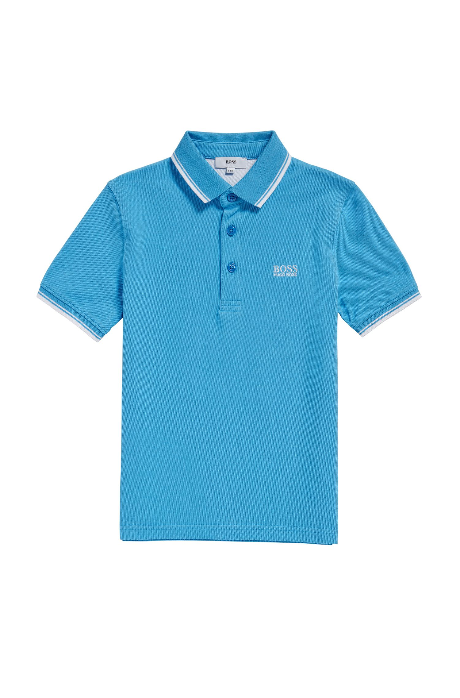 Regular-Fit Kids-Poloshirt aus Baumwoll-Piqué