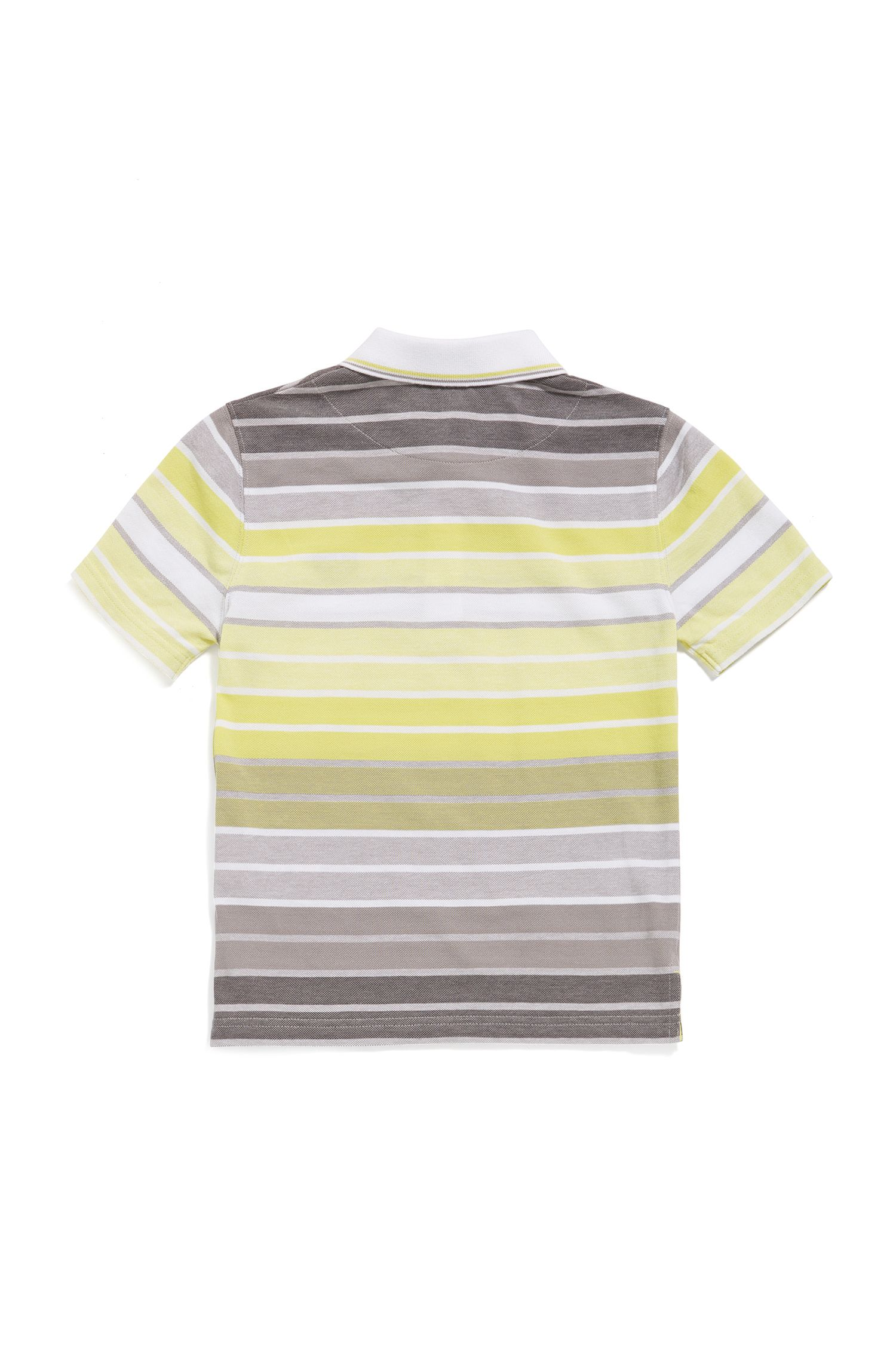 Kids-Poloshirt aus Baumwolle im gestreiften Dessin: 'J25A70'