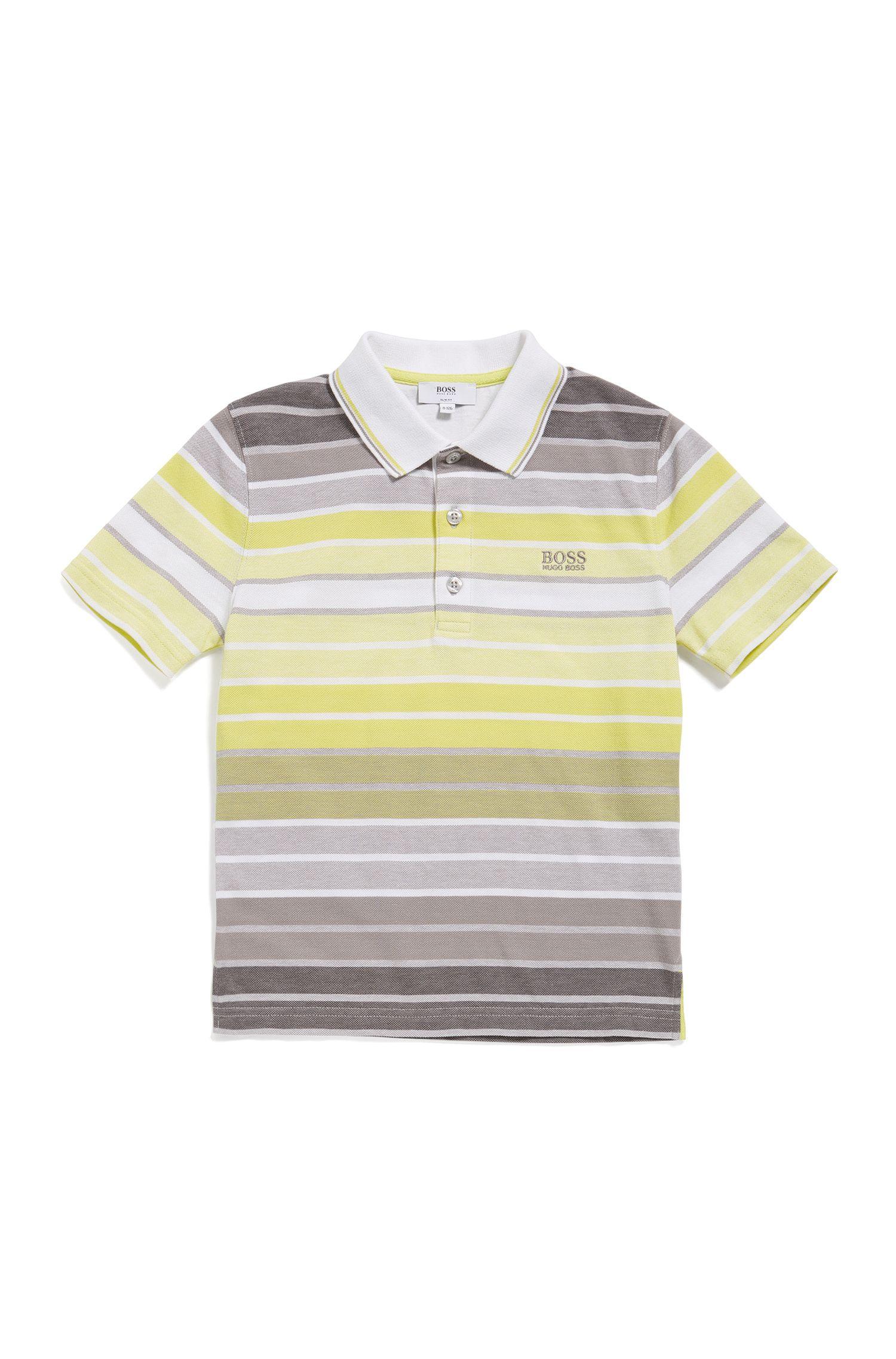 Kids' cotton polo shirt in a striped pattern: 'J25A70'