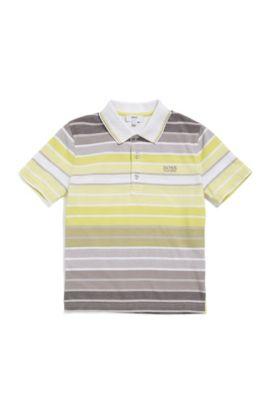 Kids-Poloshirt aus Baumwolle im gestreiften Dessin: 'J25A70', Gemustert