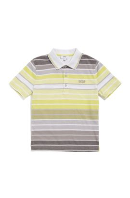 Kids' cotton polo shirt in a striped pattern: 'J25A70', Patterned