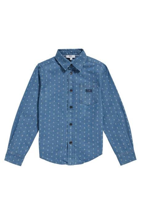Chemise pour enfant en coton, à l'imprimé allover: «J25A88», Fantaisie