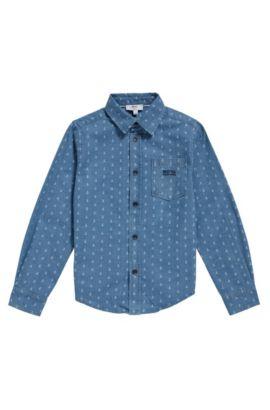 Camisa para niño en algodón con estampado integral: 'J25A88', Fantasía