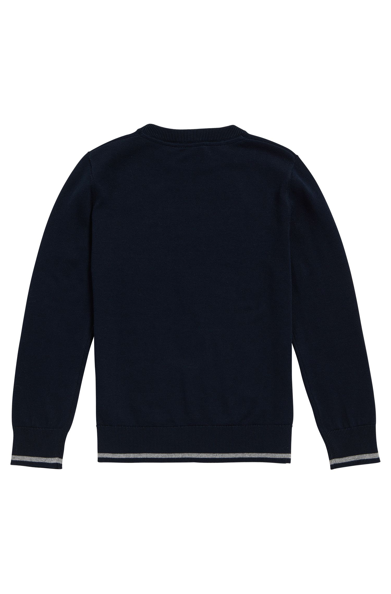 Kids' regular-fit sweater in combed cotton