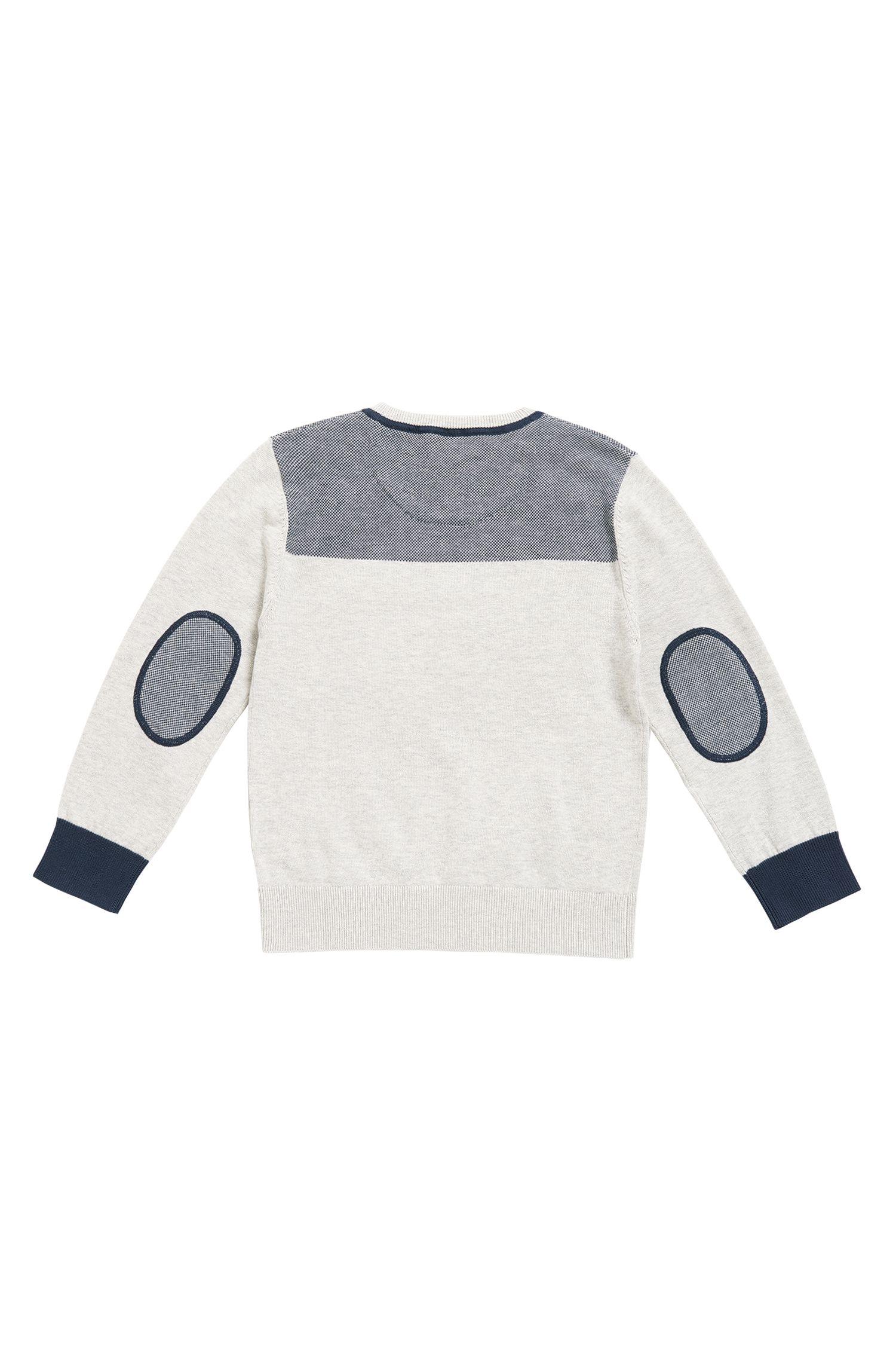 Pull col V pour enfant en coton peigné