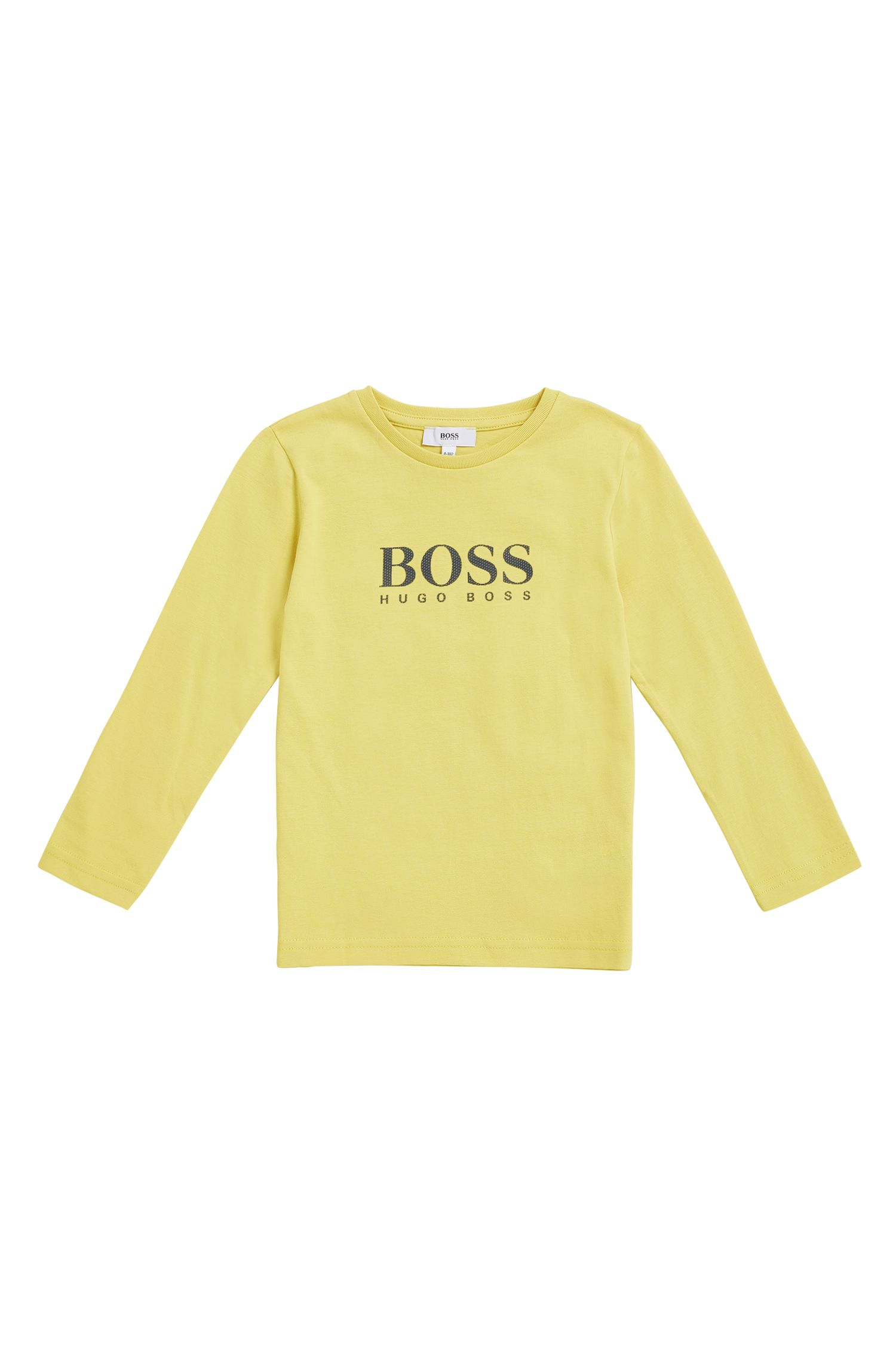 Regular-Fit Kids-Longsleeve aus Baumwolle mit Print