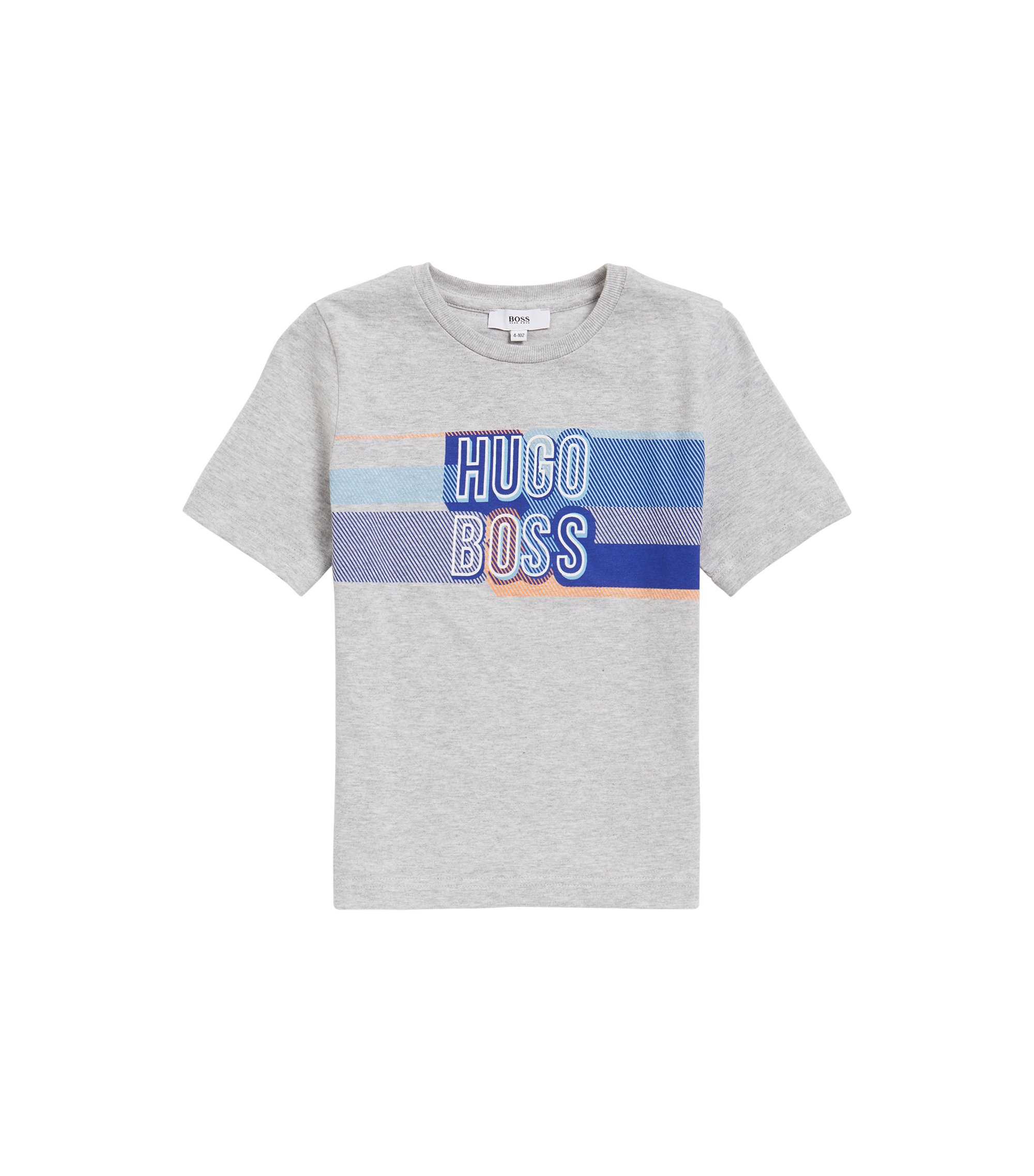 Kids' logo-graphic T-shirt in cotton jersey, Light Grey