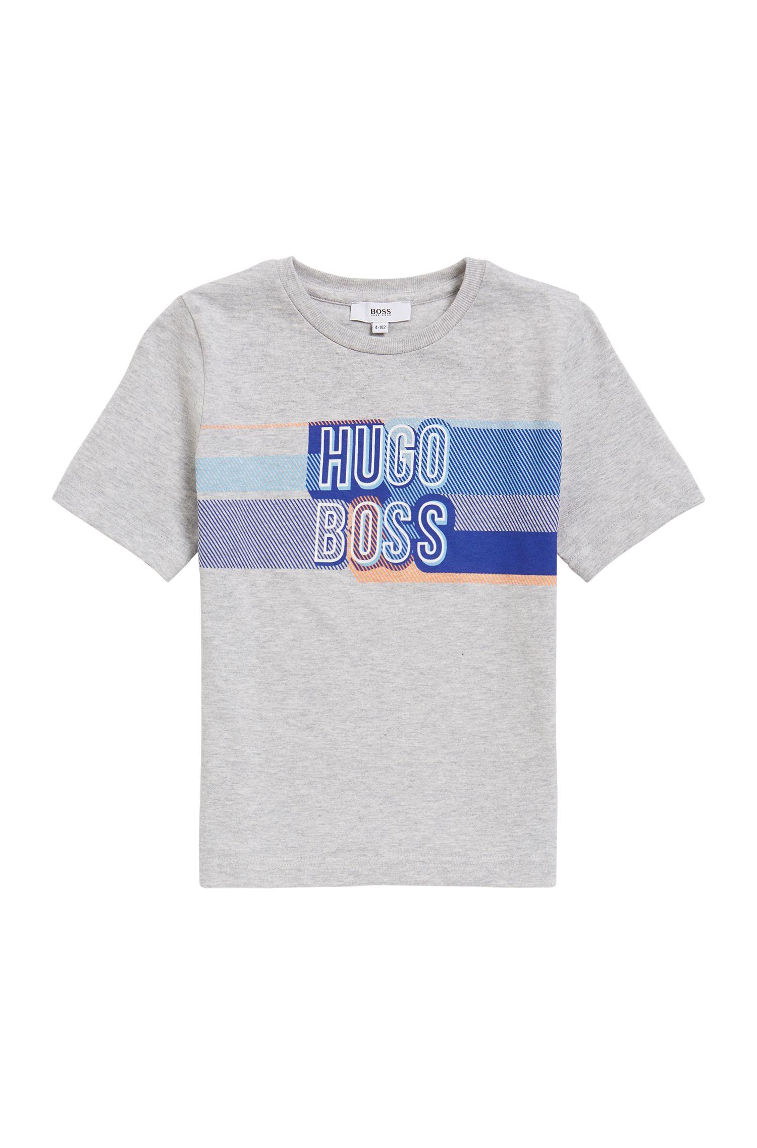 Kids-T-Shirt aus Baumwoll-Jersey mit Logo-Print
