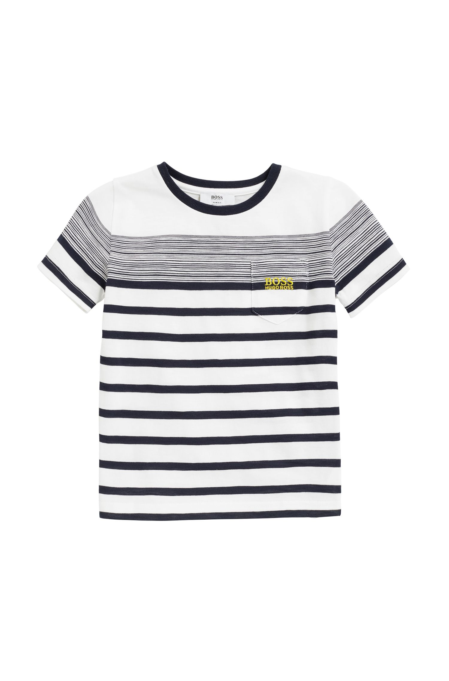 Bretons gestreept kinder-T-shirt van slub-katoenjersey