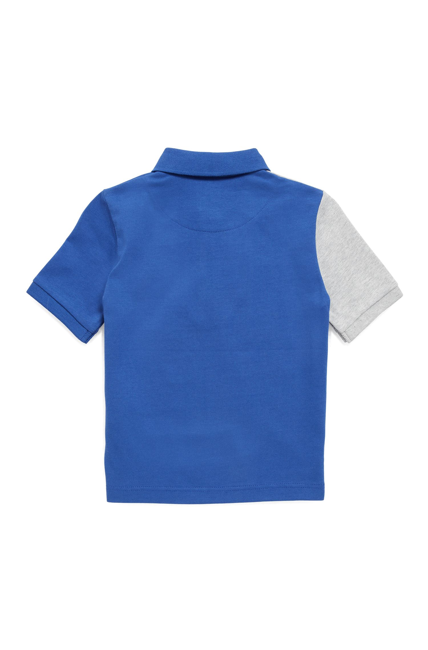 Kids' polo shirt in single-jersey cotton