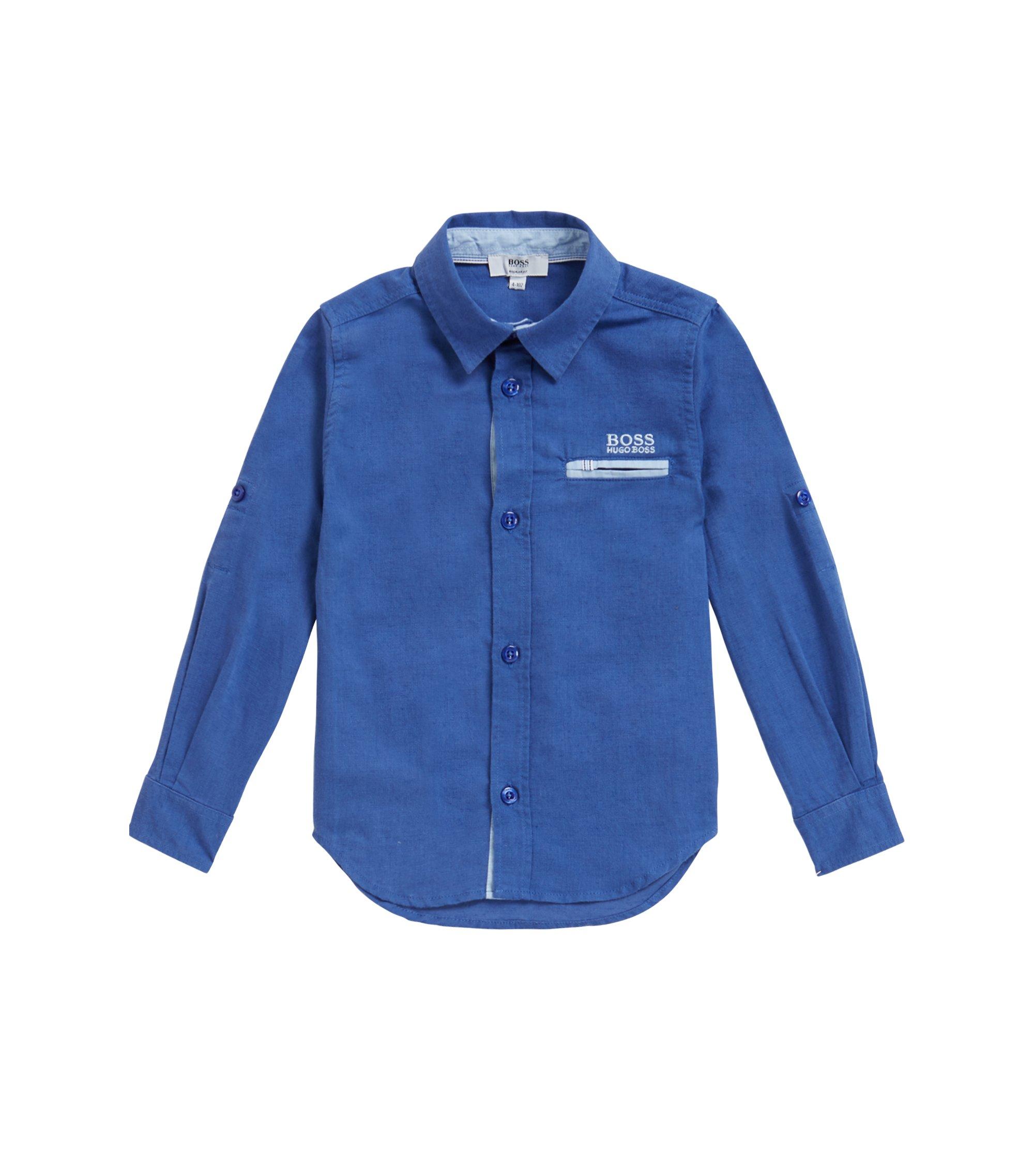 Kids' shirt in a lightweight fabric blend, Blue