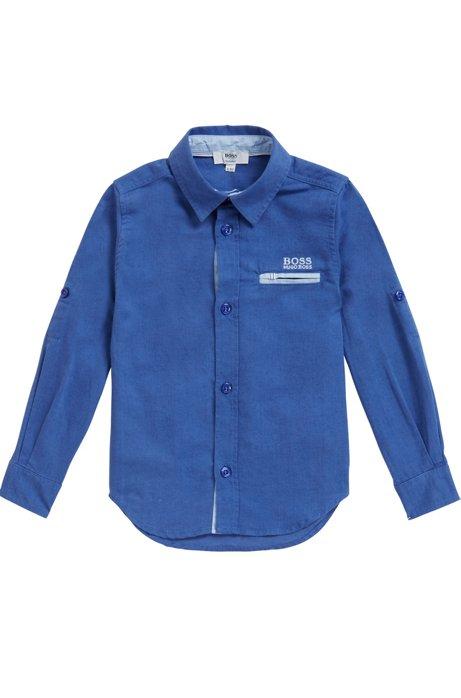 Camicia da bambino in tessuto misto leggero, Blu