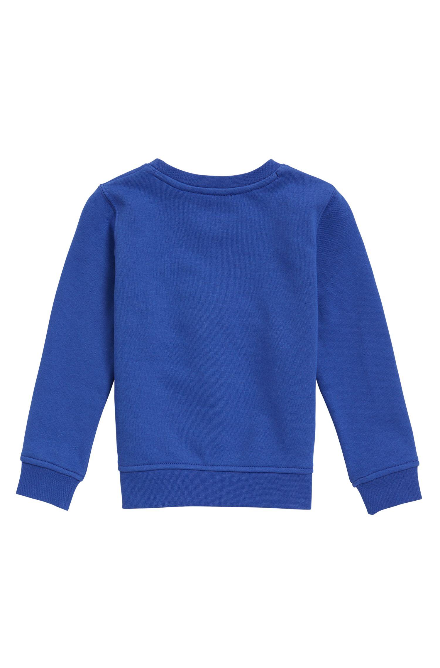 Kids-Sweatshirt aus Baumwoll-Mix mit Logo-Dessin
