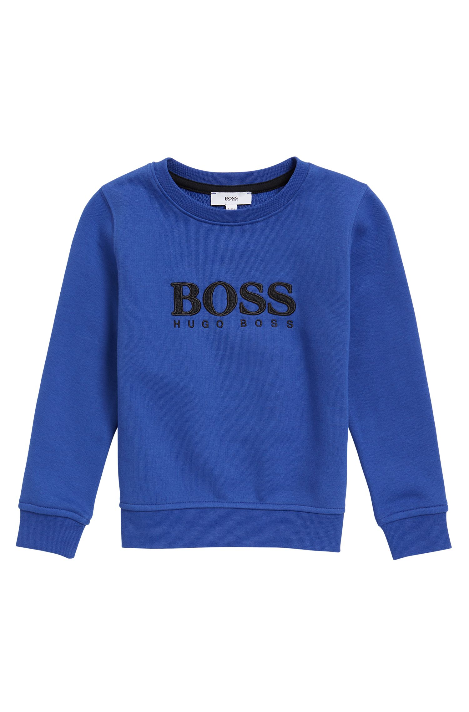 Kindersweatshirt van badstof met logo