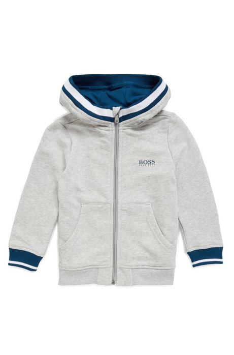 3713d88631aa BOSS - Kids  zip-through hooded jacket in French terry