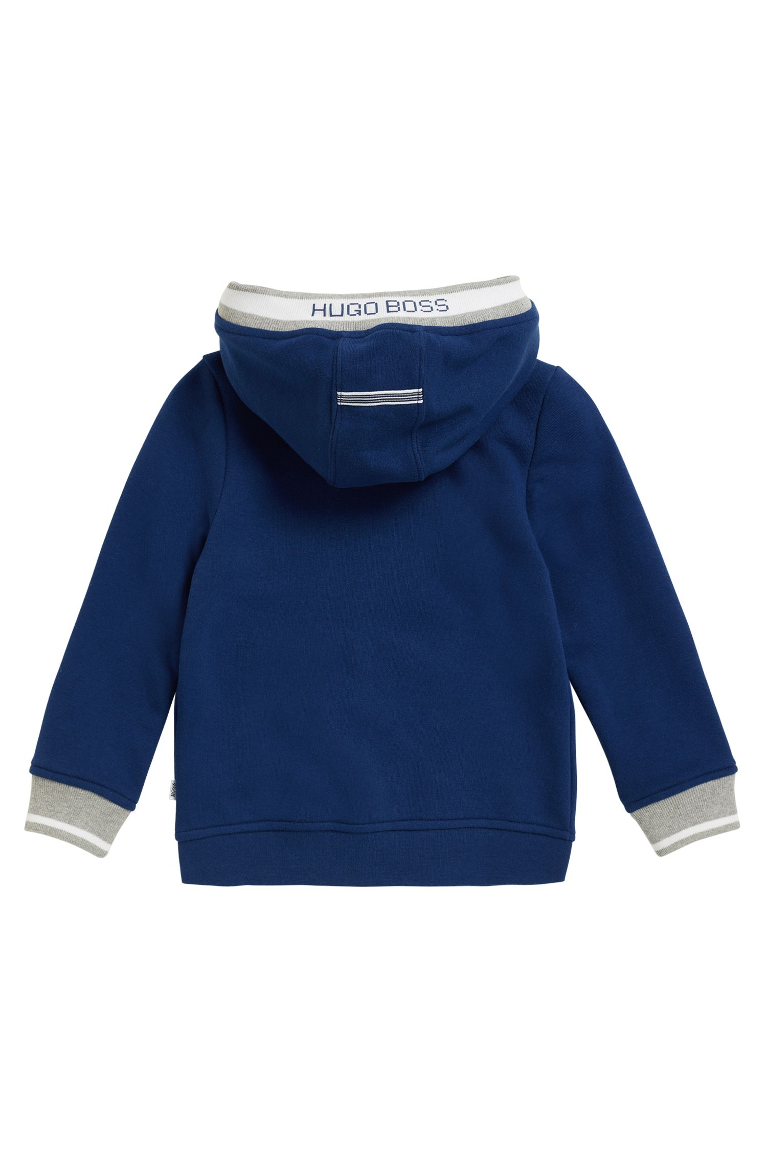 Kids' zip-through hooded jacket in French terry