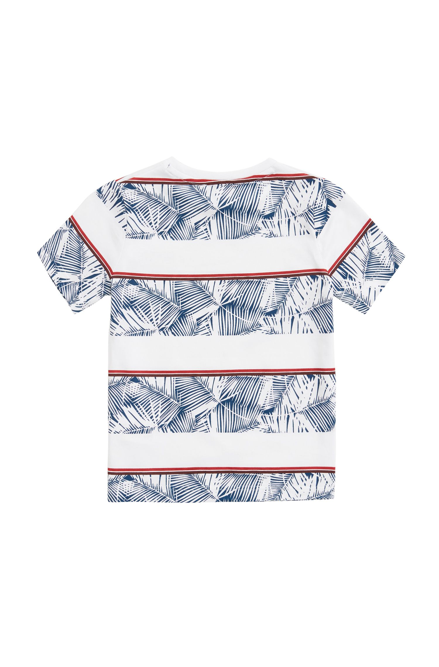 Kids' striped T-shirt in single-jersey cotton