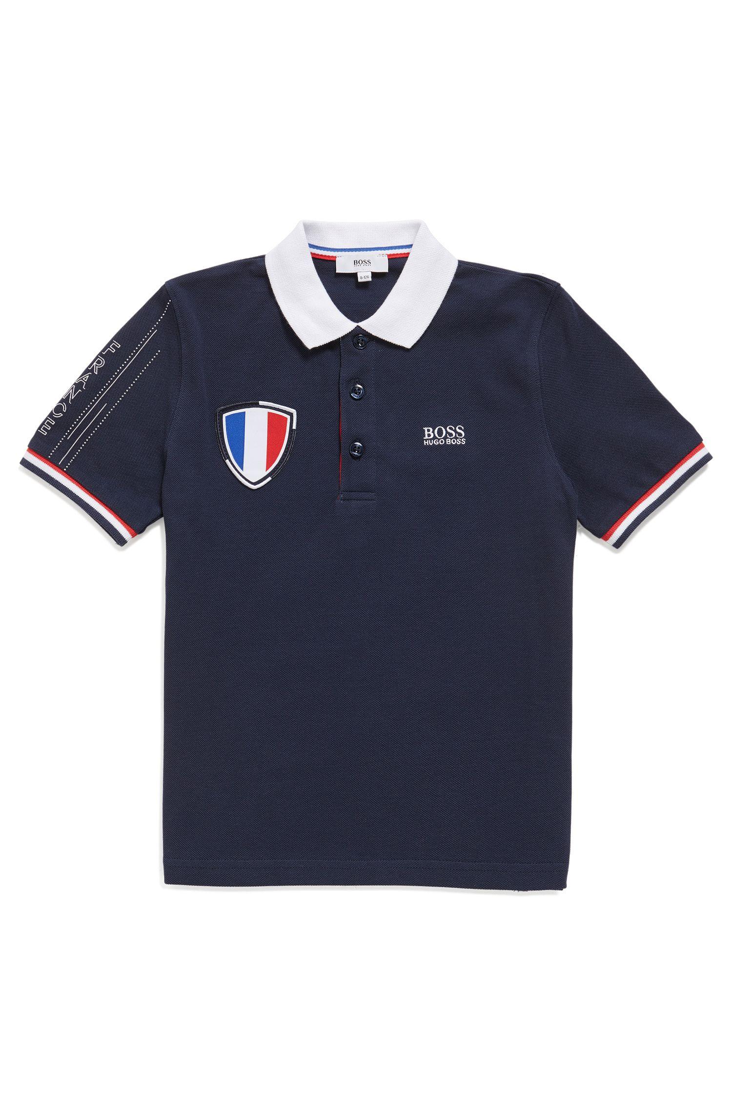 Piqué kinderpolo in de kleuren van het Franse elftal