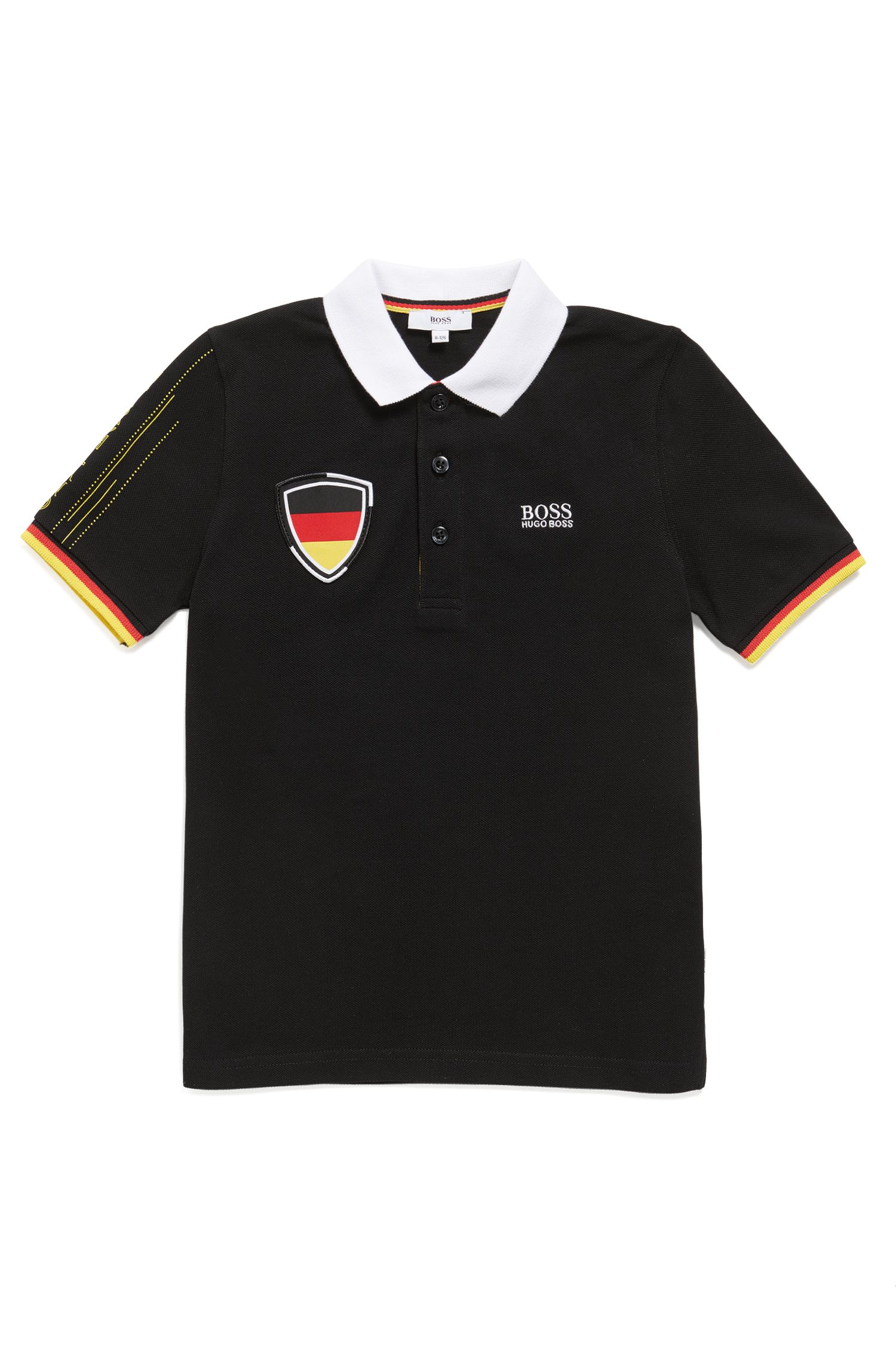 Kids' piqué polo shirt in Germany's team colours