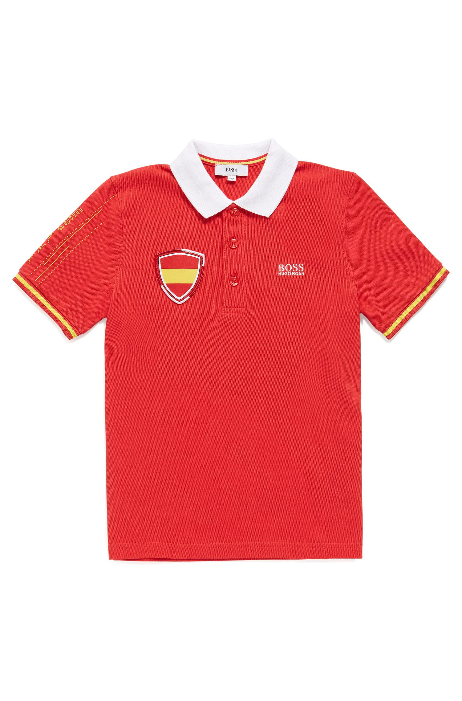 Kids' piqué polo shirt in Spain's team colours