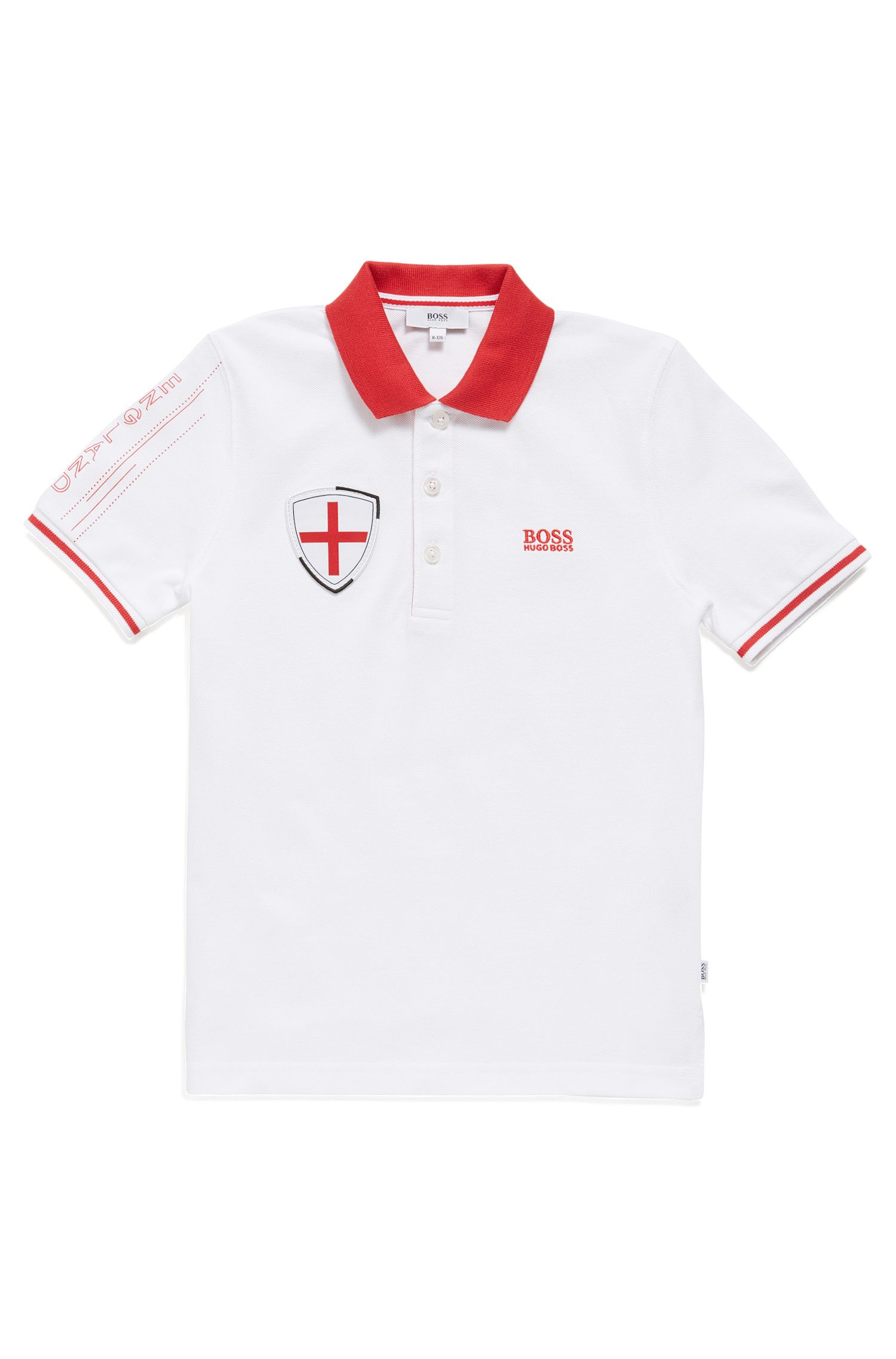 Kids' piqué polo shirt in England's team colours