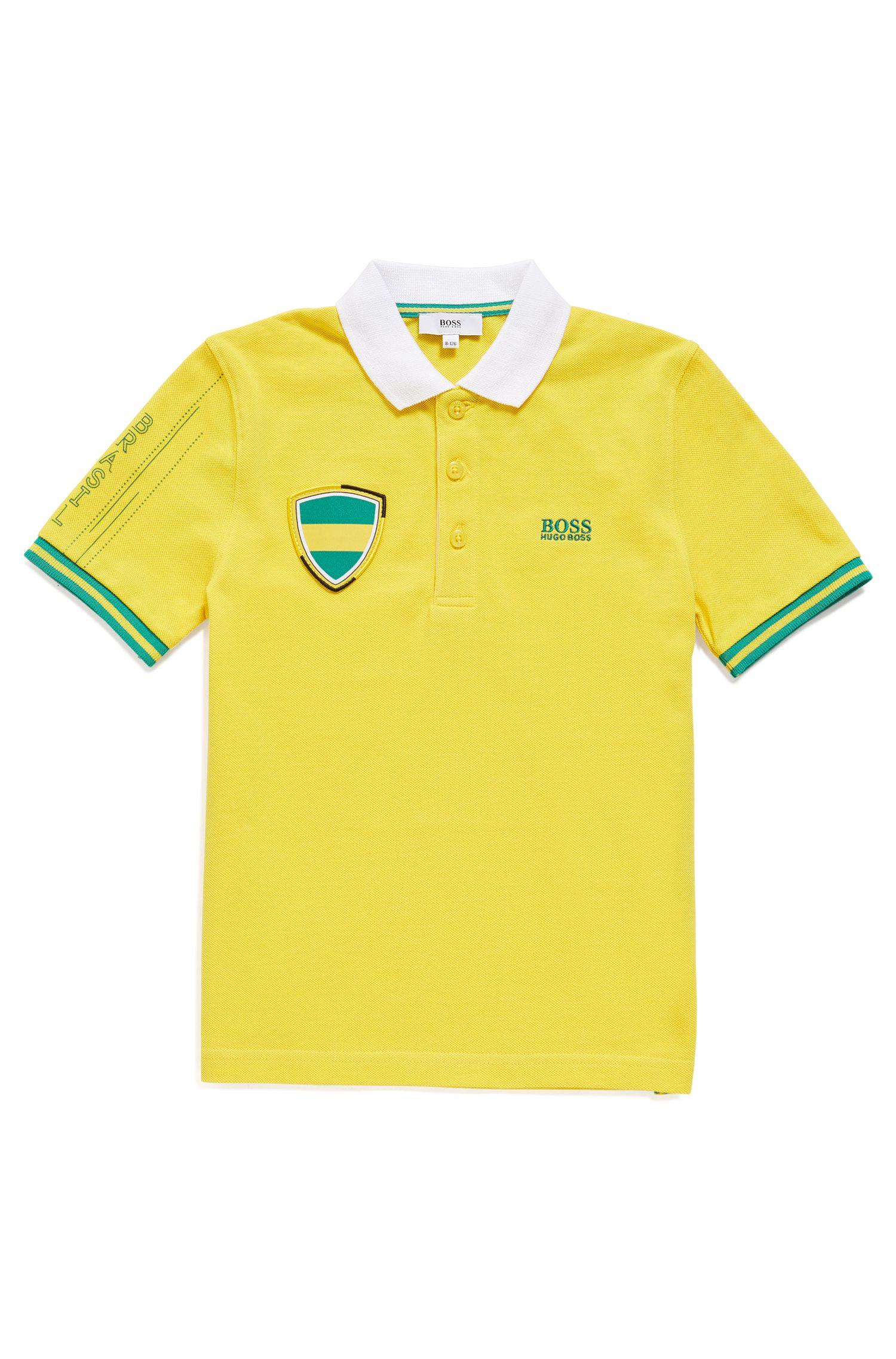 Polo in piqué da bambino nei colori della nazionale brasiliana