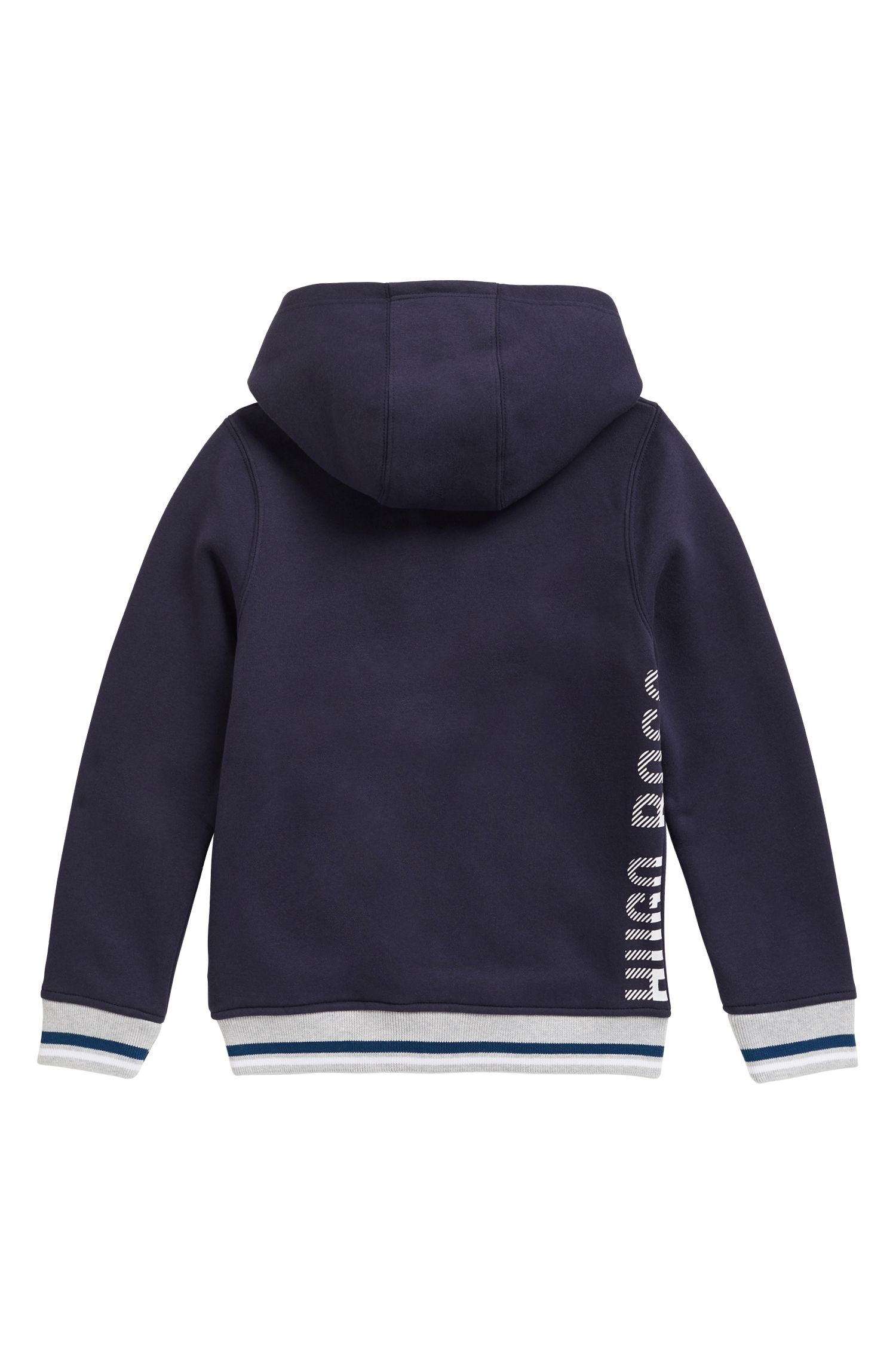 Regular-Fit Kids Loungewear-Jacke aus Baumwoll-Mix, Dunkelblau