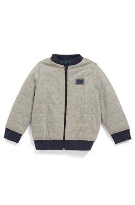 Veste d'intérieur réversible pour enfant avec garnissage intérieur, Gris chiné