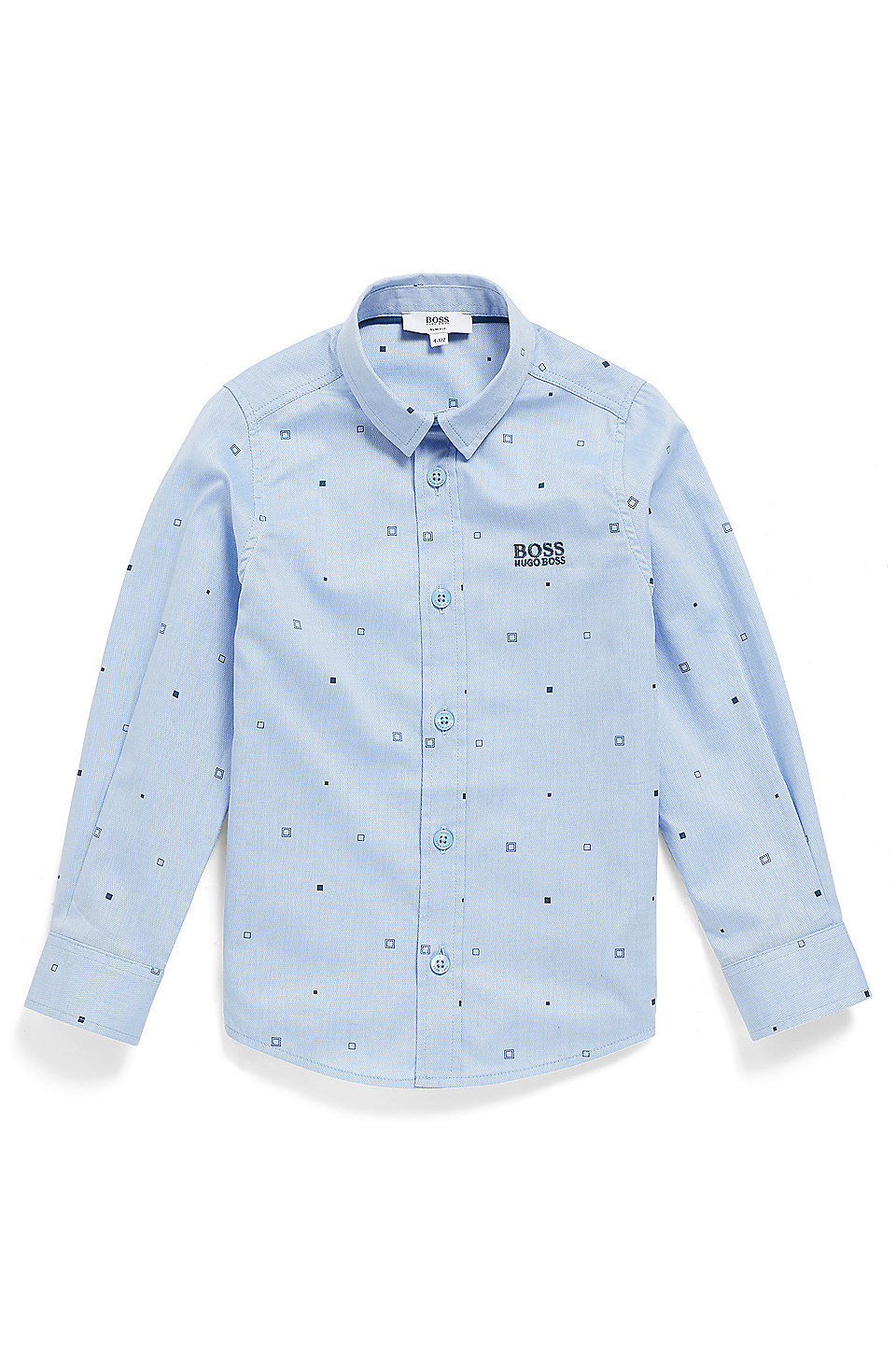 fe366ac0a BOSS - Kids' slim-fit shirt in printed cotton