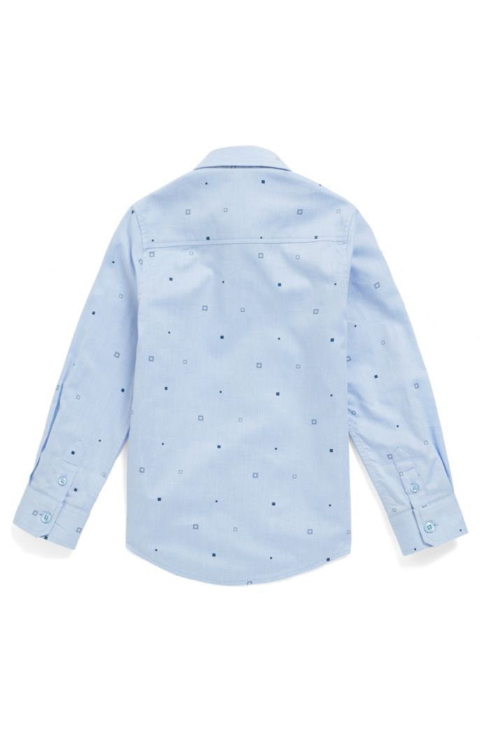 Kids' slim-fit shirt in printed cotton