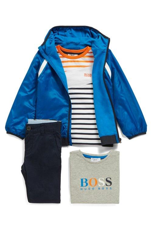 Hugo Boss - Camiseta de manga larga para niños con rayas y bloque asimétrico - 2