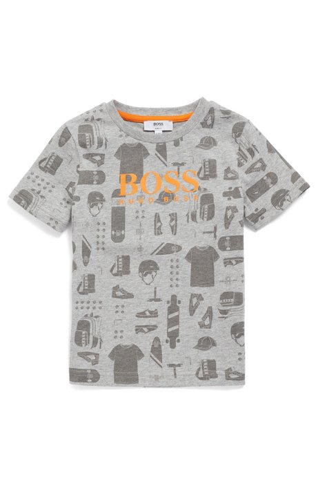 e0c6d98c98068 BOSS - Kids  T-shirt in cotton with all-over printed artwork