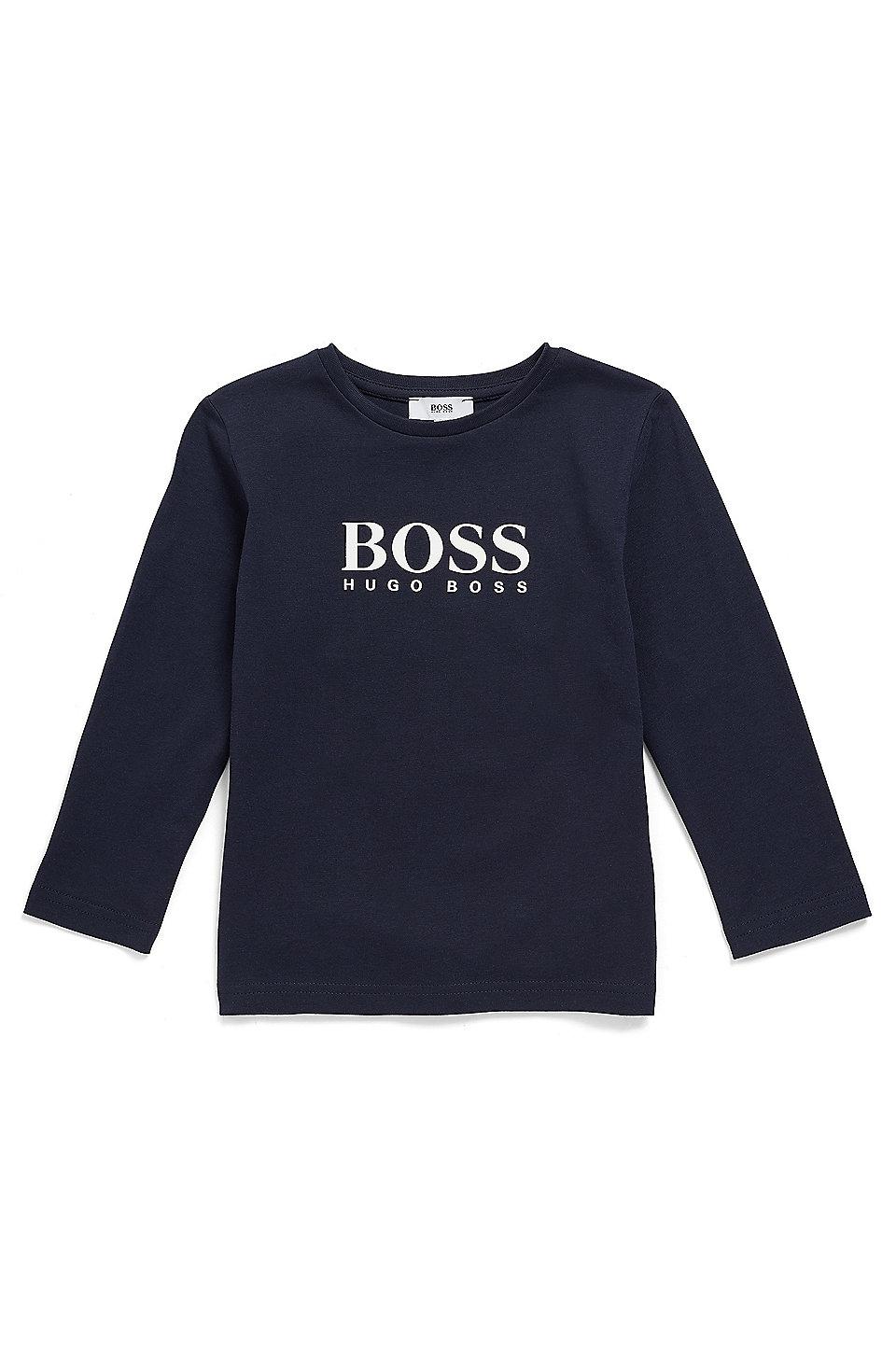 6e9658fdc8 BOSS - Kids' long-sleeved T-shirt with high-density logo print