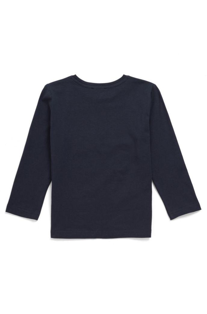 Kids' long-sleeved T-shirt with high-density logo print
