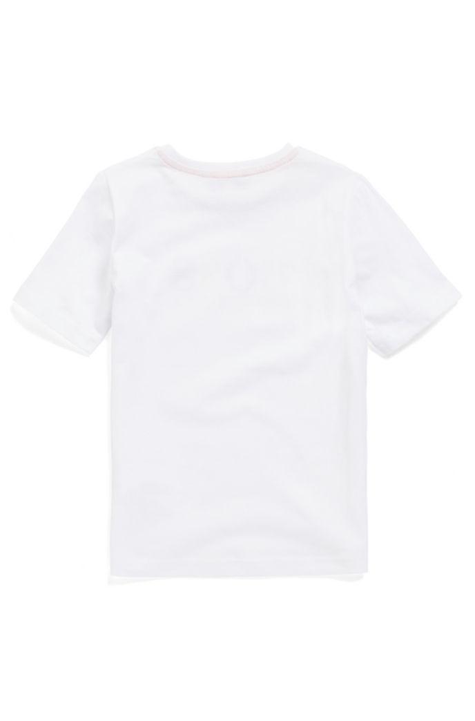 Kids-T-Shirt aus Baumwolle mit mehrfarbigem Logo-Print