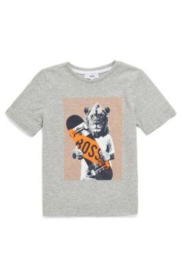 Camiseta para niños en puro algodón con ilustración animal e67a54b8e066