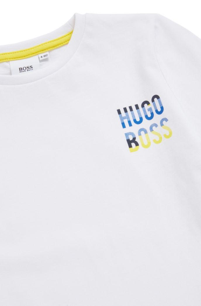 T-shirt en pur coton pour enfant avec logo coloré