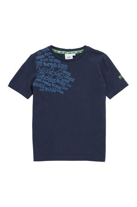 Kids-T-Shirt mit Logos im Graffiti-Design, Dunkelblau