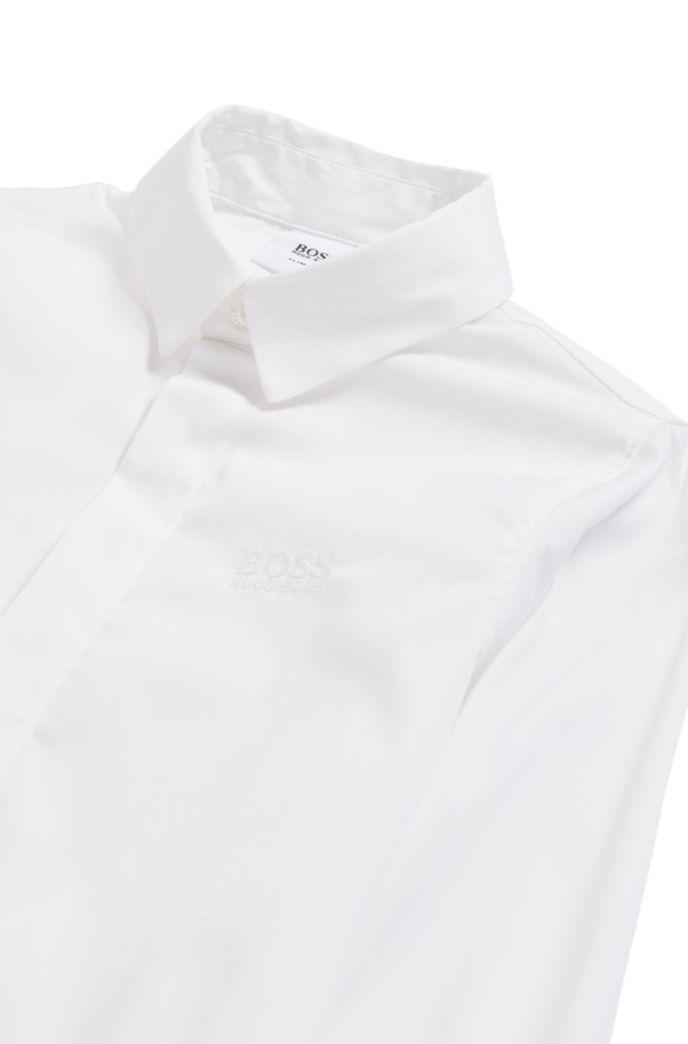 Chemise Slim Fit pour enfant avec patte de boutonnage invisible
