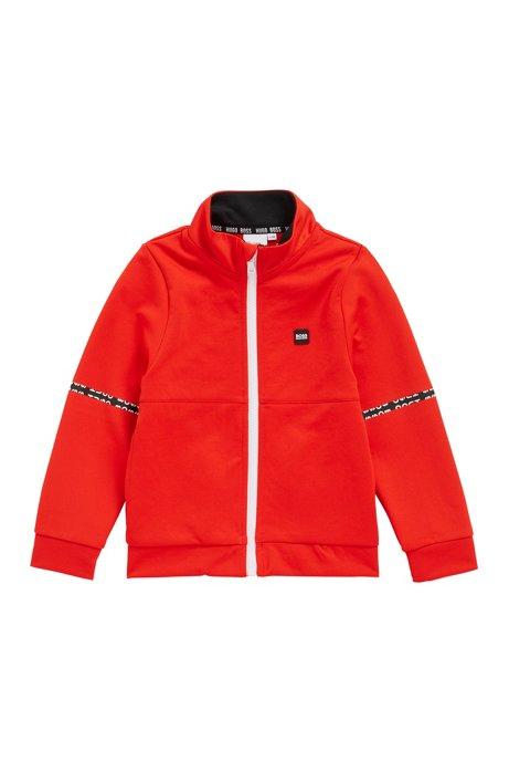 Veste d'intérieur pour enfant avec col à logo imprimé, Orange foncé