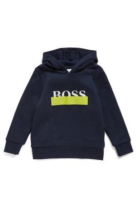 Kids' hoodie with new-season logo print, Dark Blue