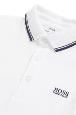 BOSS - Polo Regular Fit pour enfant en coton