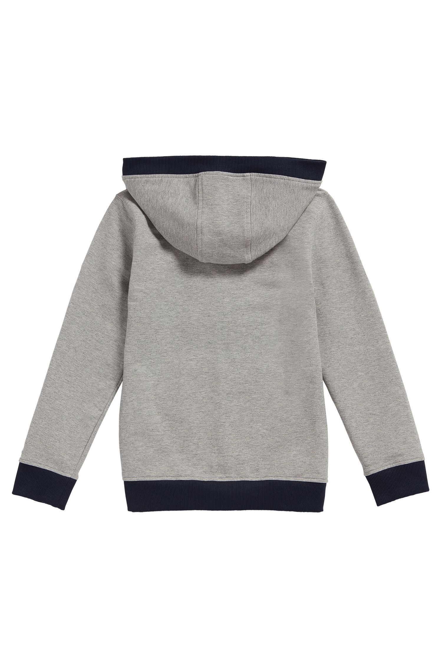 Sweat Regular Fit en coton stretch, Gris chiné