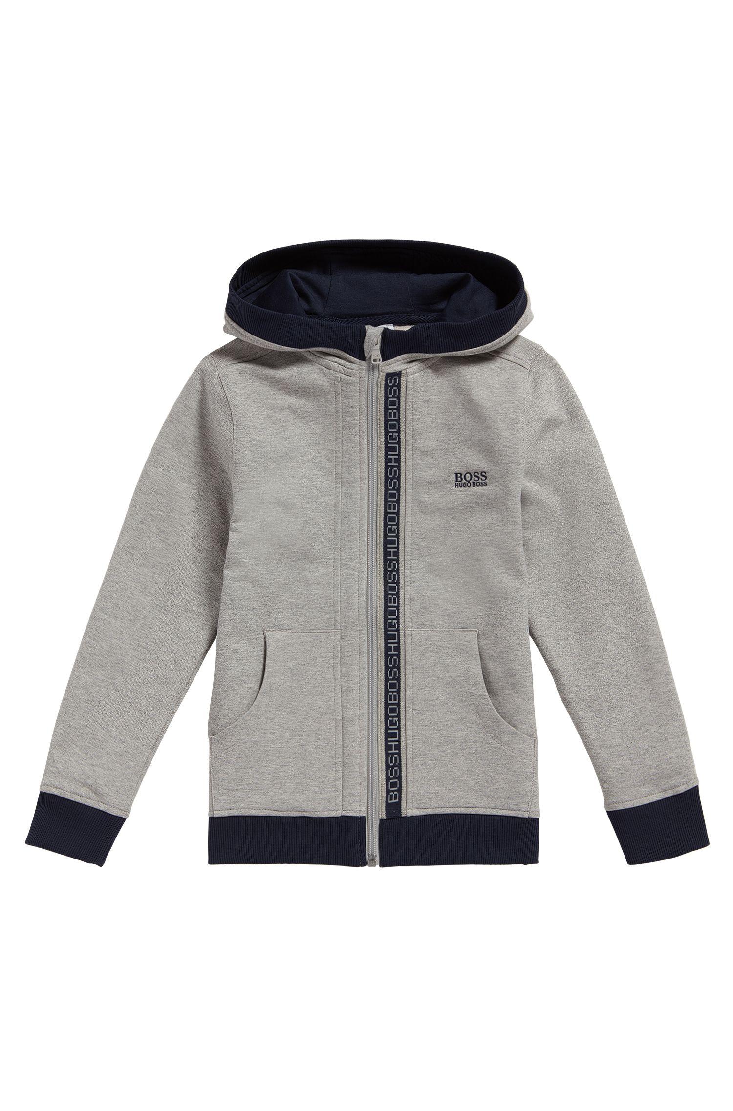 Kids-Sweatshirt-Jacke aus Stretch-Baumwolle mit Kapuze: 'J25P02'