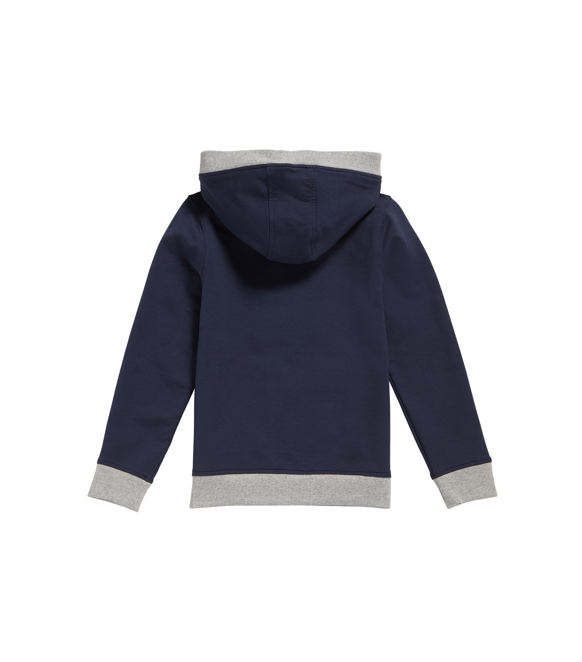 Sweat Regular Fit en coton stretch, Bleu foncé