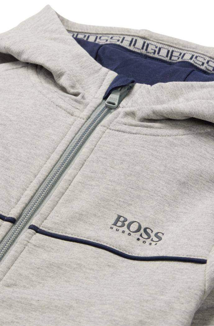 Veste d'intérieur à capuche en molleton de coton stretch, pour enfant