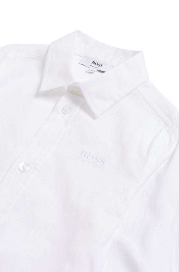 Chemise Regular Fit en coton à logo brodé pour enfant