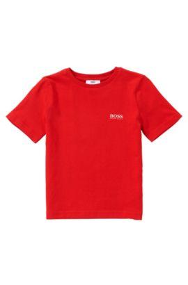 Regular-fit kids' t-shirt in cotton: 'J25U00', Red